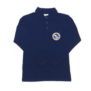 Long Sleeve Golf Shirt – Navy